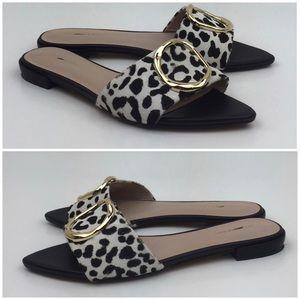 Something Navy Shoes - Something Navy Cassie Genuine Calf Hair Slide sz 6